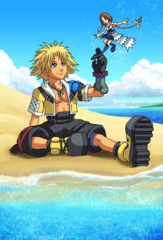 KH2: Tidus and Yuna by Risachantag
