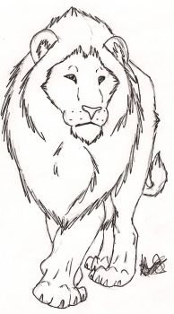 Free Lion Sketch by Rurouna by Misfit-Pride
