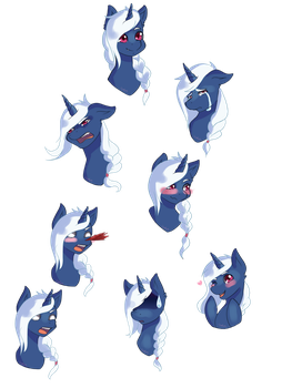 {Commission} Emotes for Fintan Florent by Akemiarts1