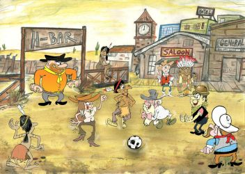 Football Western-style by Granitoons