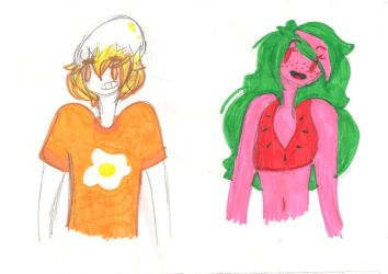 idk (little doodles for amibe???) by bunny-kat