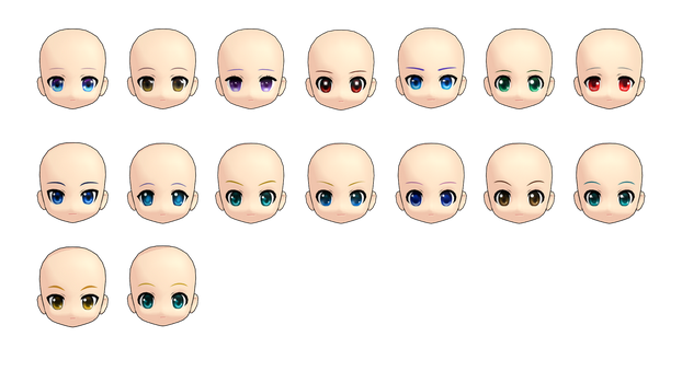 MMD Rummy Head Pack DL by 2234083174
