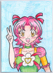 Cure Spring Art Trading Card by darlychan