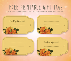 Free Printable Gift Tags by hyunasia