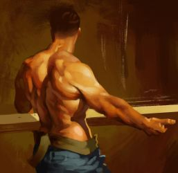 Master painting study by Jorn-des