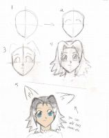My way of drawings anime heads by Lilchan16