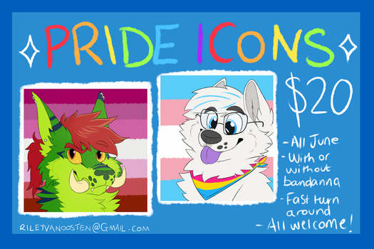 $20 PRIDE ICONS FOR SALE by Asp3ll