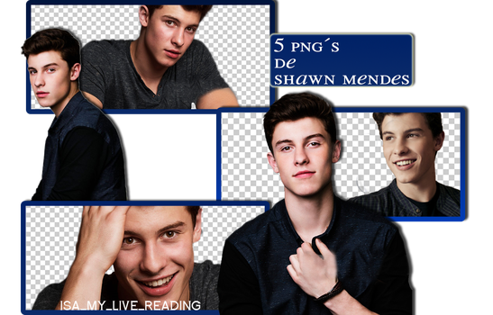 5 PNGS DE SHAWN MENDES by isamylivereading
