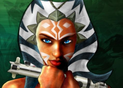 Ahsoka colour by channandeller