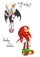 Rouge and Knuckles! by amberday