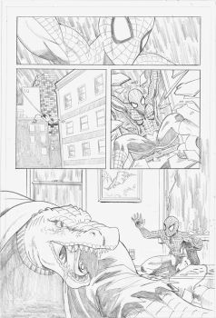 Spider-Man vs The Lizard - pg1 by self-replica