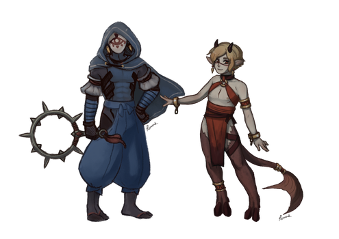 Exorcist And Fiel Concept by Rococospade