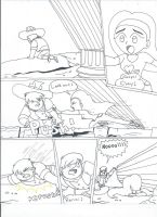 Renai saves Clay (uncolored) by XSreiki772