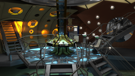 11th Doctor (Matt Smith) TARDIS interior by Davros-the-2nd