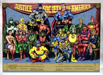Justice Society of America   (9-7-11 ) by REN1972
