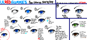 LilRedGummie's EYE COLORING STEP BY STEP by LilRedGummie