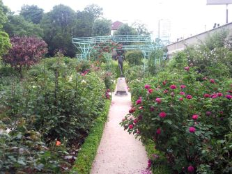 Garden path to a statue by melusineblack