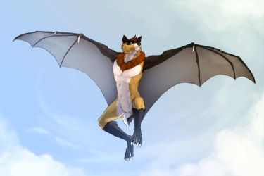 On Leather Wings by RogueLiger by Keeshanic-Fox