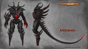 Ahriman - model sheet by FirstKeeper