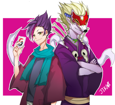 Magatsu Jin and Yamigitsune by JIKAGsize