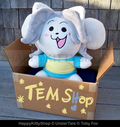 Temmie Plushie Version 2 by HappyKittyPlushies