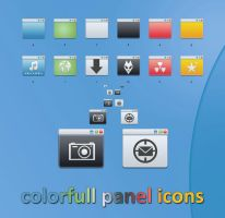 Colorfull panel icons by blymar