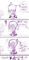 Zim! wants to be the big head by Skeleion