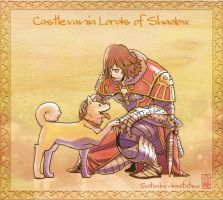Gabriel and doggie : Castlevania Lords of Shadow by SatoakiAmatatsu