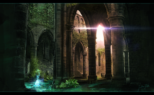 Ruins Painting by JonathanDeVos