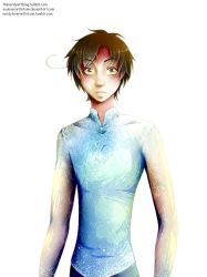 Frozentalia - Romano as Elsa (not transparent) by InuLoverNr1Hitomi