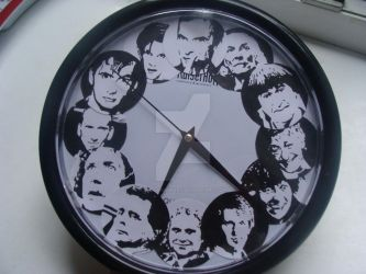Tick tock, the finished clock by BuddaForMary