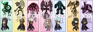 5D's Dark Signers Bookmarks by PhuiJL