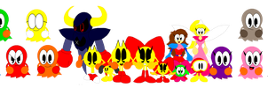 PAC-MAN Character Group by CHEEZN64X