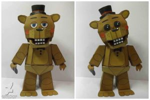 five nights at freddy's 2 Toy freddy papercraft by Adogopaper