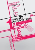 helvetica neue poster by altis88