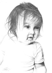Child portrait in pencil by AnnaGilhespy