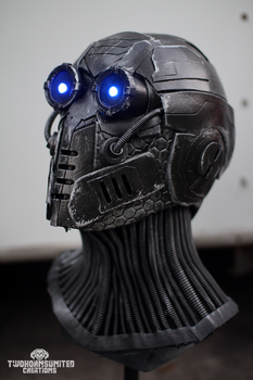 The Nullifier - LED cyberpunk mask by TwoHornsUnited
