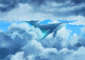 Swimming in the sky by rururucoffee