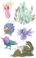 Pokemon fusions by mextag00
