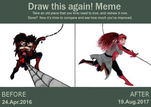 Draw this again! Meme - Spidy and Mary Jane by MaruanKaled