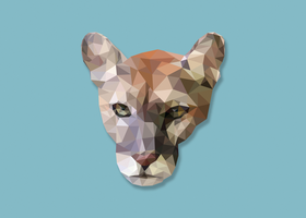 Low-Poly Panther by manomow