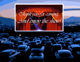 Drive-In Theater At Dusk by FearOfTheBlackWolf