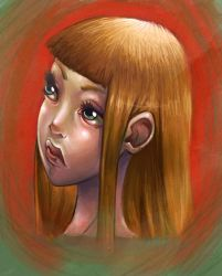 speed paint girl by Cefys