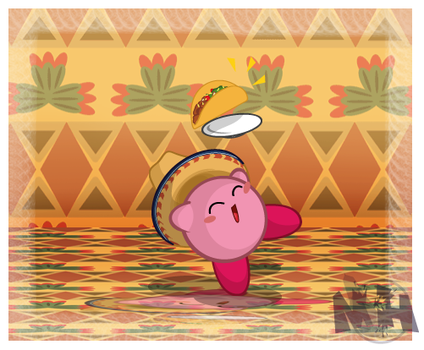 Kirby's new food by pikmin789