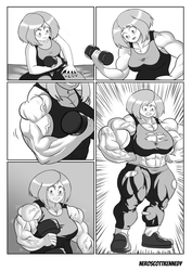 Commission: Ochako working out part 1 by NeroScottKennedy