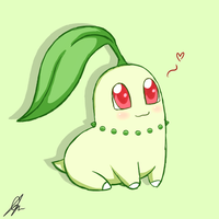 Chikorita Sketch by xxGaby-23xx