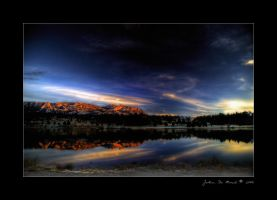 A Sunrise on Lake Estes by kkart