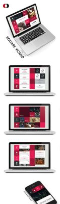 HTML Site - Bootstrap Square vCard by isoarts2
