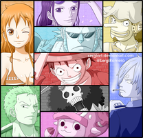 One Piece - Nine pirates to rule the sea by SergiART
