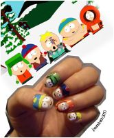south park nails by RubberToast